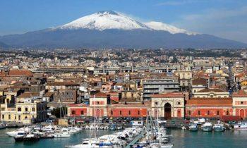 Catania, zweitgrößte Stadt Siziliens unweit des Ätna